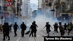 Foto arkiv nga protestat pro-demokracisë në Hong Kong.