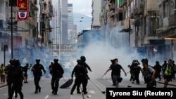 Pamje nga protestat në Hong Kong, në korrik të vitit të kaluar.