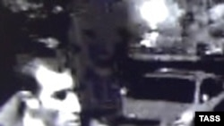 Moscow slaying suspect Orkhan Zeynalov, pictured here in a surveillance camera grab