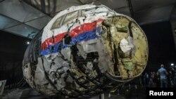 Реконструкція літака, що був збитий над Донбасом улітку 2014 року