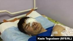 Максат Досмагамбетов после операции в Алматы. 2 апреля 2015 года.