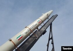 Revolutionary Guard missile inscribed with anti-Israeli message, 2015