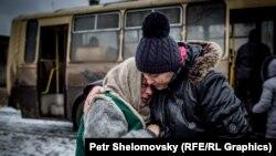 Бир канча күндөн бери атышуулар болуп жаткан Дебальцево шаары. Шаар украин армиясынын көзөмөлүндо. 4-февраль, 2015-жыл