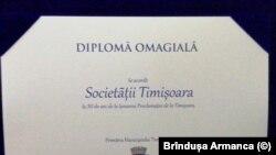 Romania- Timisoara Society plaque
