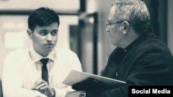 Эмиль Гараев с Михаилом Ходорковским