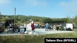 La piaţa din Musaitu, creată cu ajutorul fondurilor europene