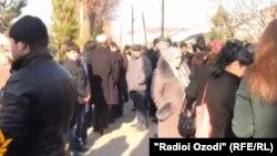 Акция протеста в Душанбе