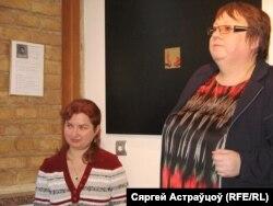 Натальля Гардзіенка (сядзіць) і Марына Шыбко.