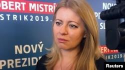 Zuzana Caputova, candidată la președintia Slovaciei, februarie 2019