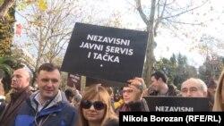 Protest za zaštitu Javnog servisa u Crnoj Gori