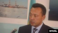 Қазақстанның Энергетика және минералдық ресурстар министрi Сауат Мыңбаев, Атырау, 18 қыркүйек 2008 ж.