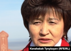 Алматы қалалық әкімшілігінің бұрынғы қызметкері Сапура Жүсіпова. Алматы, 12 қараша 2011 ж.