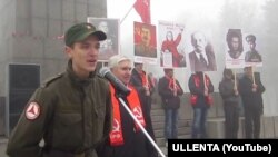 Данил Алферьев на митинге КПРФ