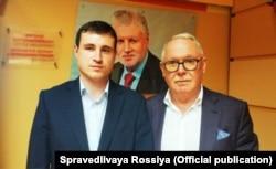Aleksandr Solovjov (lijevo) s Aleksandrom Romanovič, šefom moskovskog ogranka stranke Samo Rusija.