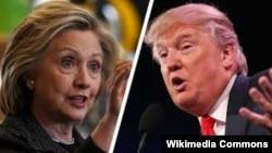 Hillary Clinton (solda) və Donald Trump