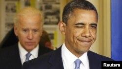Presidenti i SHBA-së, Barack Obama, dhe nënpresidenti Joe Biden.