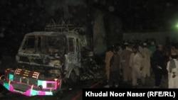 Baluchistan:Nato containers under fire in Mastung