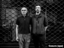 Італійський фотокореспондент Андреа Роккеллі і його російський помічник Андрій Миронов