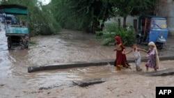 Затопленные районы в Пешаваре