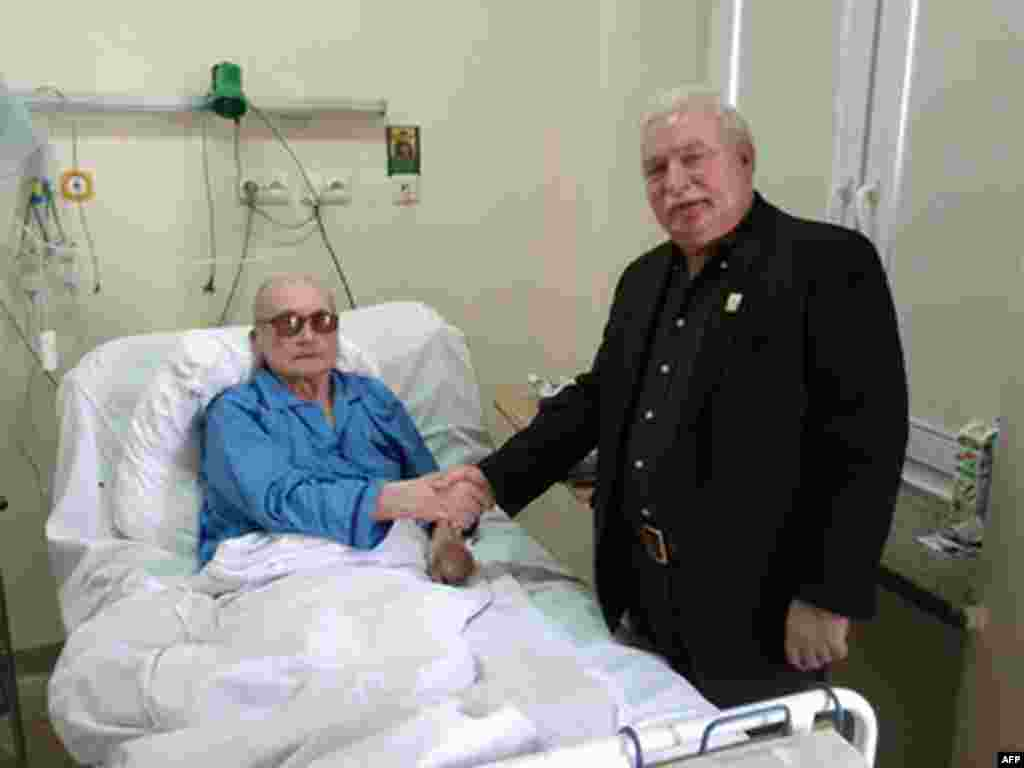 "Former Solidarity leader Lech Walesa visited Jaruzelski in the latter's hospital bed in September 2011 in a memorable feat of forgiveness, offering a ""get well"" wish to his former oppressor."