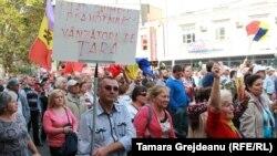 Moldovada etiraz aksiyası, 4 oktyabr, 2015-ci il