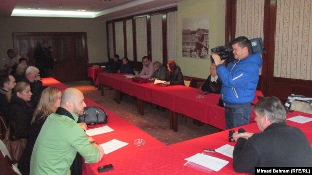 Sastanak novinara u Mostaru, 10. januar 2015.