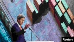 جان کری در جریان کنفرانس پیشرفت اقتصادی مصر، شرم الشیخ