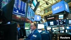 Трейдеры Нью-йоркской фондовой биржи.