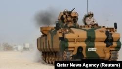 Турецкая военная техника на своей базе в Катаре