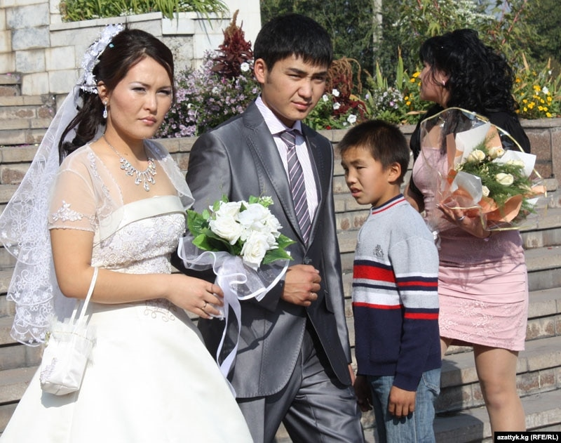 A Kyrgyz wedding file photo