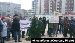 Акция в Череповце в защиту Пуловского леса. Ноябрь 2018 года