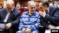 Mohammad Ali Najafi gjatë paraqitjes në gjykatë.
