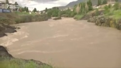 Swollen Kyrgyz Rivers Wash Out Roads And Bridges