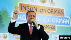 Recep Tayyip Erdogan na skupu u Ankari, 21. ožujka 2017.