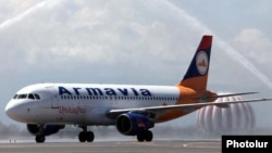 Armenia -- A new Airbus A320 aircraft of the Armavia national airline, 07May 2010.