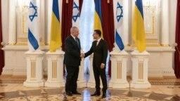 Volodimir Zelenski cu Benjamin Netaniahu. astăzi la Kiev, 19 august, 2019