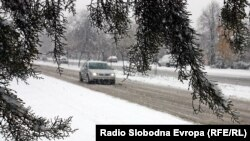 Macedonia - snowy day, Skopje, 16Dec2010