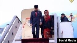 ویدودو با همسرش در کابل