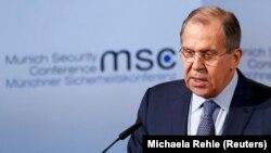 Глава российского МИДа Сергей Лавров на конференции по безопасности в Мюнхене