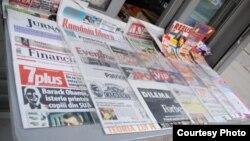 Romania - press newsstand, Mar2009