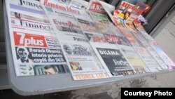 Romania - press newsstand, Mar2009