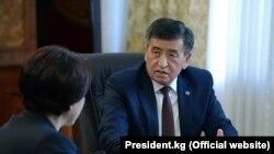Президент Сооронбай Жээнбеков БШКнын төрайымы Нуржан Шайлдабекованы кабыл алды.