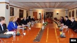 Средба на премиерот Никола Груевски со генералниот секретар на ОБСЕ Ламберто Заниер во Скопје.
