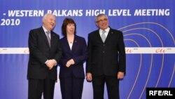 Miguel Angel Moratinos, Catherine Ashton, Sven Alkalaj (Bosnia Herțegovina)