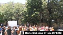 Протест поради снабдувањето со вода во Куманово.