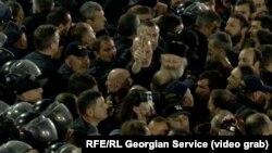 Tbilisidə kinoteatr qarşısında toqquşma, 8 noyabr, 2019-cu il