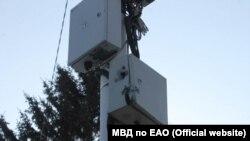 Растрелянная в Биробиджане видеокамера