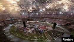 На церемонии открытия Олимпиады в Лондоне. 27 июля 2012 г