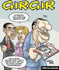 """""""Гыр-гыр"""" (Gırgır) журналы карикатуры"""