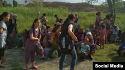 Жители села Ак-Сай. 24 июля.